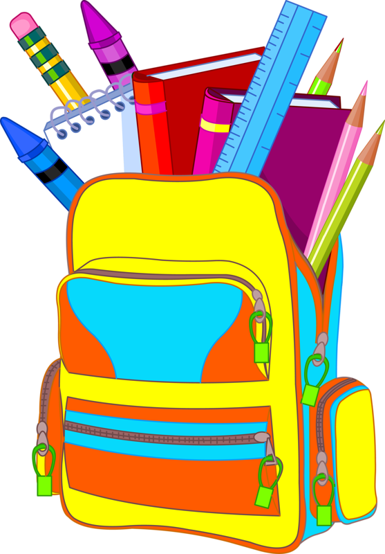 Bag clipart school supply Crayons school in couleurs on