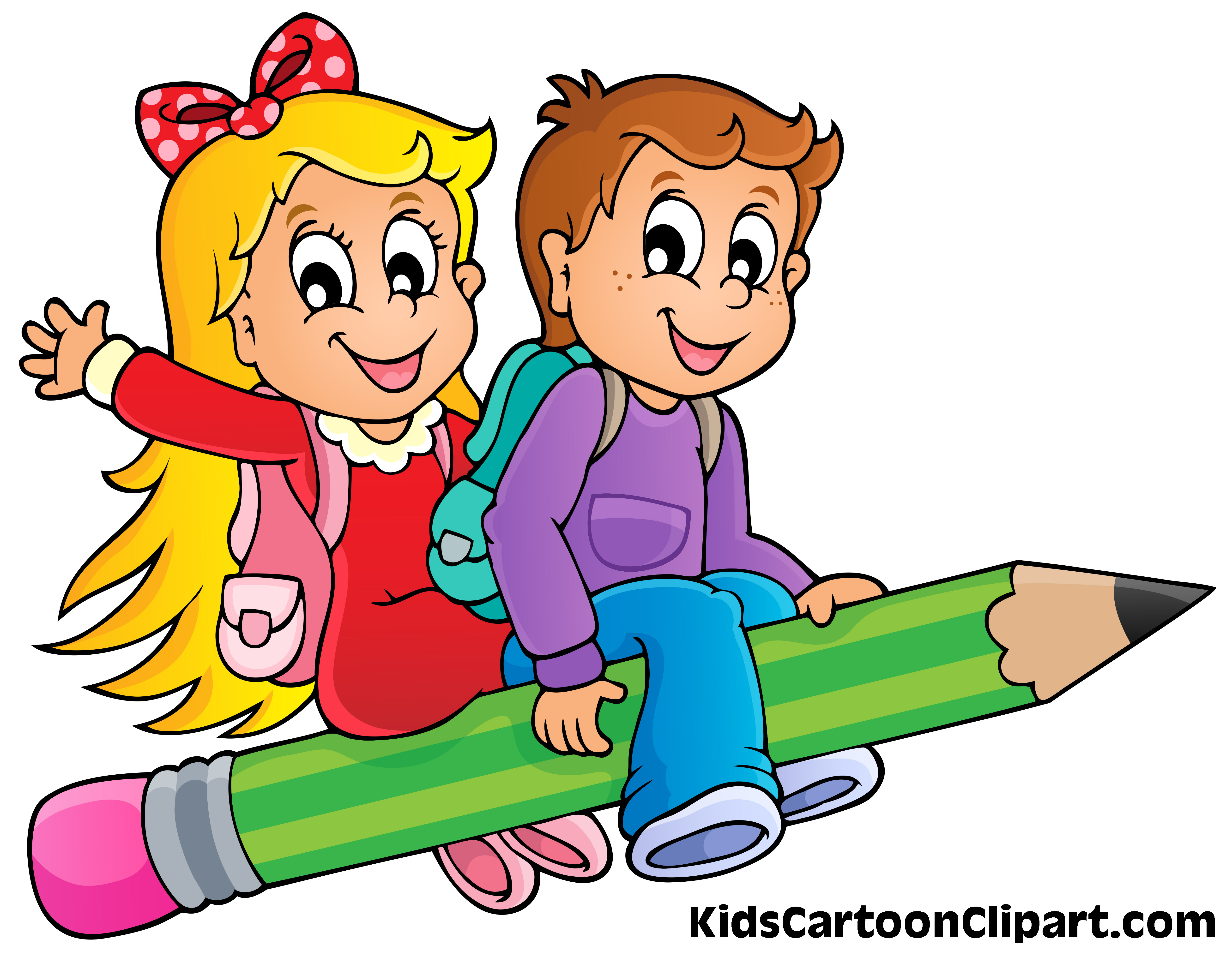 Child clipart pencil Flying Pencil A Girl Cute