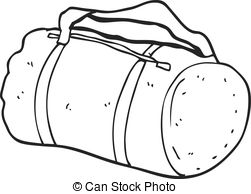 Bag clipart sports bag Clip Vector 5 white black