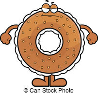 Bagel clipart Cartoon  a cream Clipart