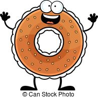 Bagel clipart vector With Happy and 007 a