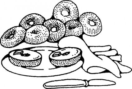 Bagel clipart coffee and Bagels Art Bagels free Bakery