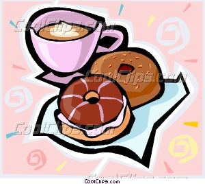 Word clipart donut Vector donuts and coffee and