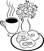 Bagel clipart coffee and Bagels coffee clipart art Clipart