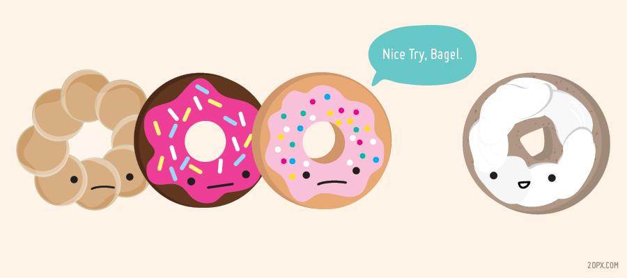 Drawn doughnut Glazed for SiOWfa16: vs A