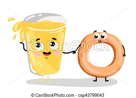 Bagel clipart happy Of lemonade and  bagel