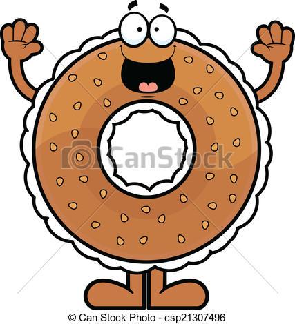 Bagel clipart happy Cartoon csp21307496 Happy Bagel Vectors
