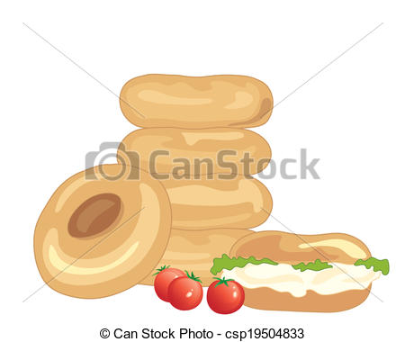 Bagel clipart plain And a of illustration a