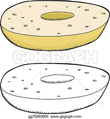 Bagel clipart plain Gg70263904 Plain One Drawing bagel