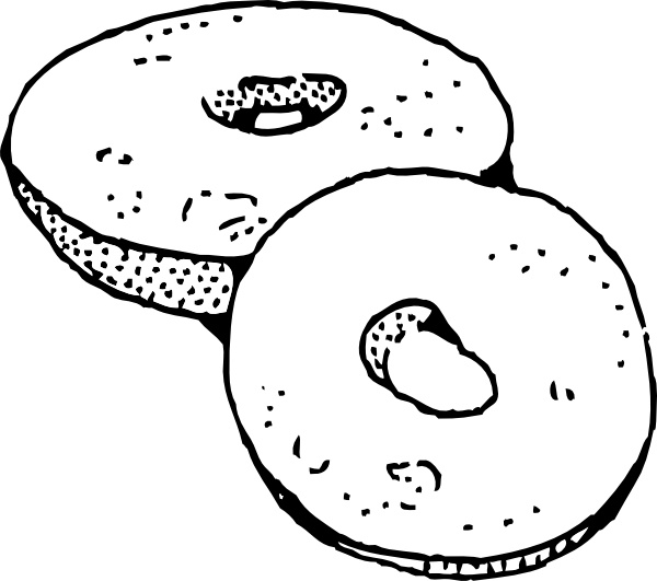 Bagel clipart vector (14 Bagels  vector download