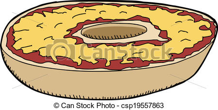 Pizza clipart fast food Csp19557863 Bagel with  Bagel