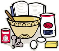 Kitchen clipart recipe #14