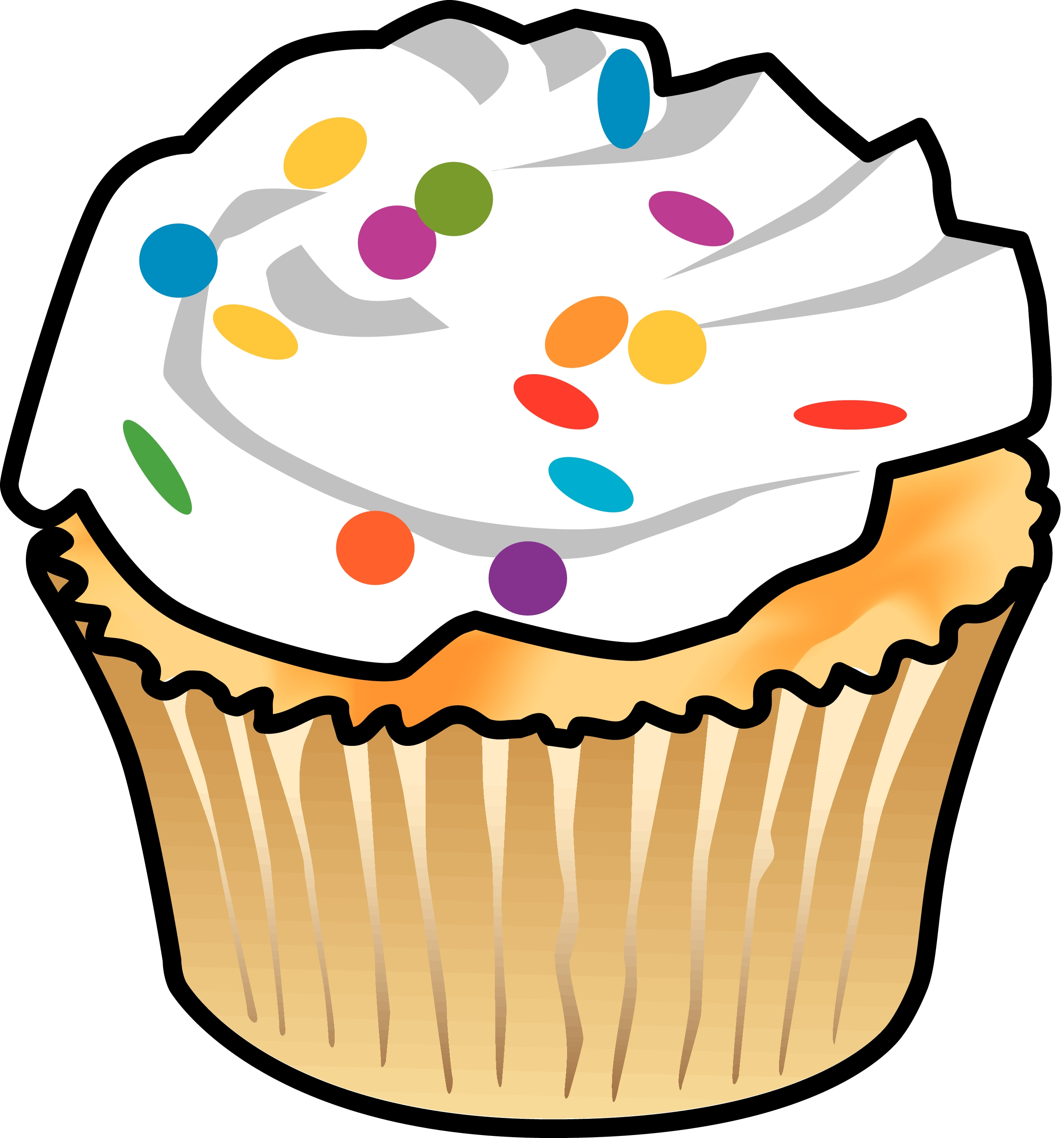 Vanilla Cupcake clipart colorful cupcake Cupcakes Preschool Cartoon BAKE AMERICAN