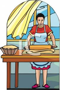 Bread clipart grain product Of Cartoon Cartoon Picture Housewife