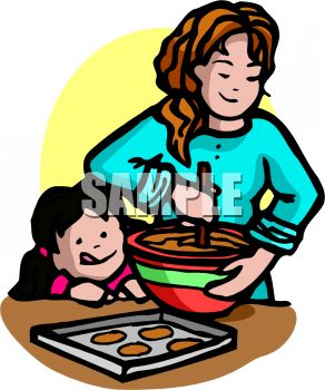 Biscuit clipart snack Royalty baking Art mom Girl