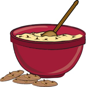 Biscuit clipart vector  Cookie Dough Baking Clipart