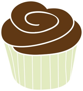 Vanilla Cupcake clipart heart Cupcake Chocolate in a chocolate