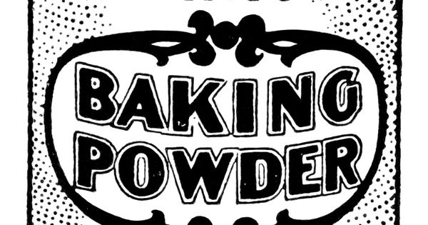 Baking clipart baking powder Art art baking antique vintage