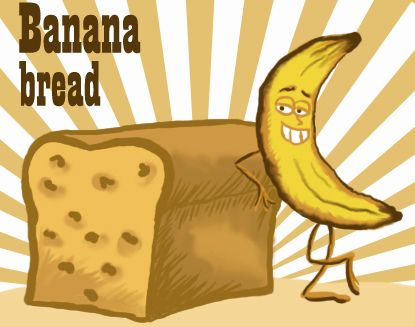 Banana clipart boy ~ Bread Banana Bread bread