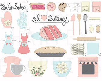 Baking clipart banner Commercial EPS INSTANT Illustration Digital