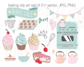 Baking clipart banner Sale Set Instant Instant Use