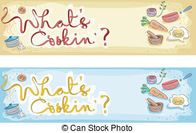 Baking clipart banner A Banner Illustrations Stock Cooking
