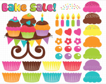 Baking clipart banner (make own) Clip Digital Cupcakes