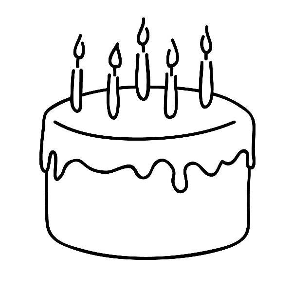Cake clipart line art WikiClipArt black free black clipart