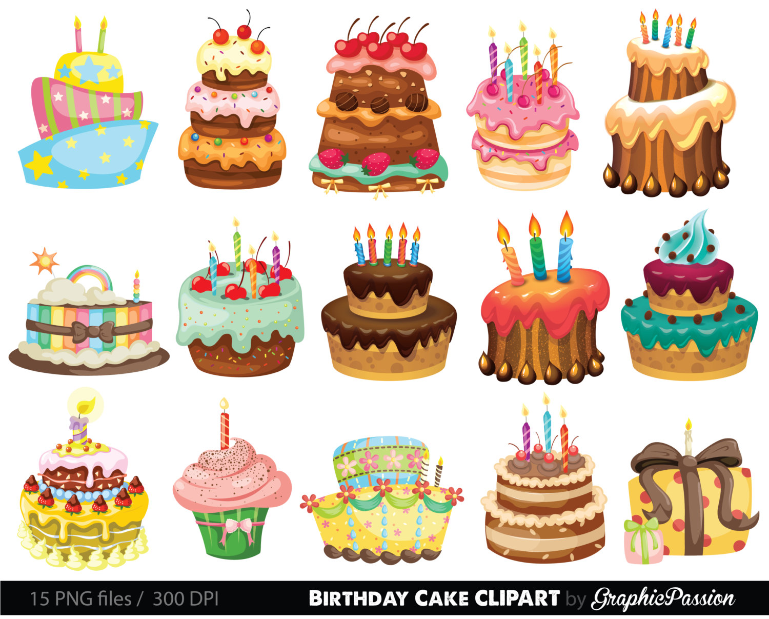 Frosting clipart layered cake Colorful Clipart clipart Cake Illustration