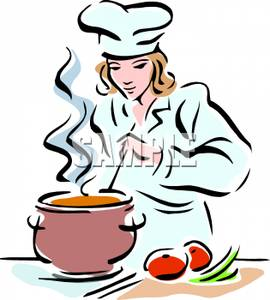 Soup clipart vegetable soup Chef  Clipart cook Chef