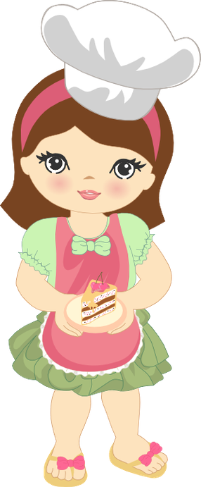 Baking clipart child baking Minus · Girl art Clipart