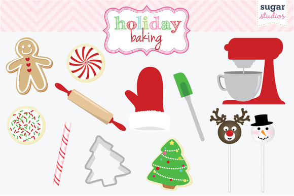 Gingerbread clipart holiday treats #13