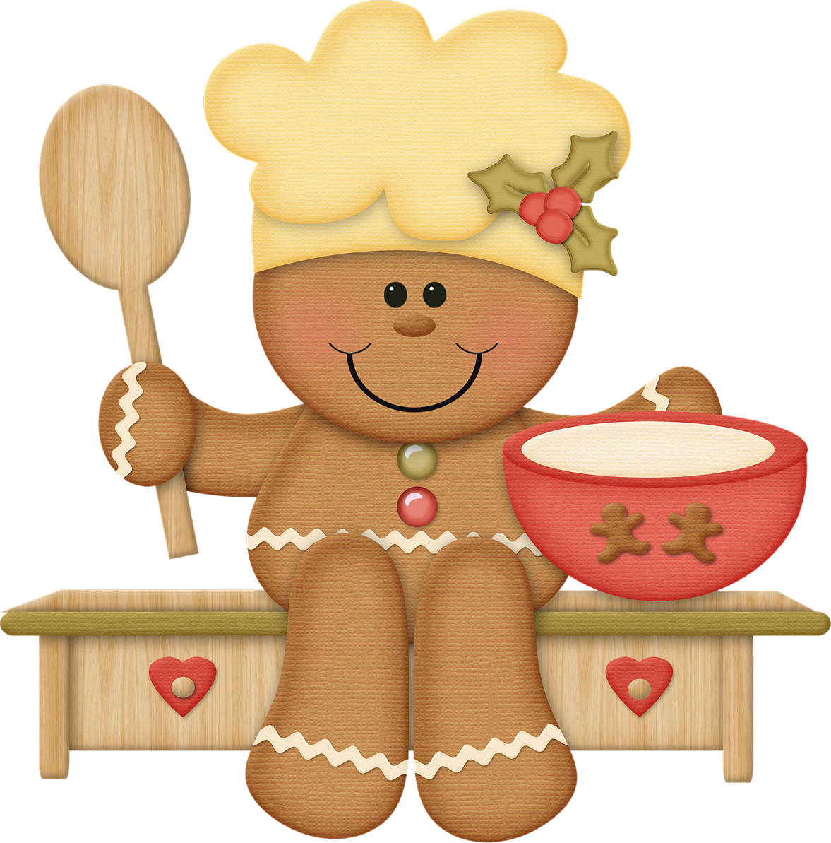 Gingerbread clipart decoration Baking Free Cliparts christmas Clip
