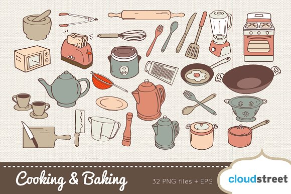 Baking clipart commercial cooking Creative Illustrations Illustrations Baking and