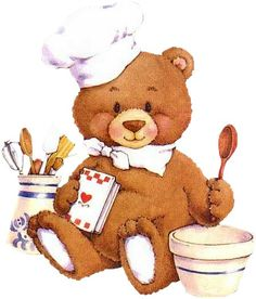 Baking clipart cookbook covers Clipart Cookbook cliparts Cooking Bear