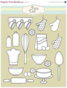 Baking clipart cooking class Dandelion page art clip print