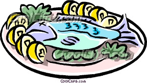 Roast clipart fish meal #8