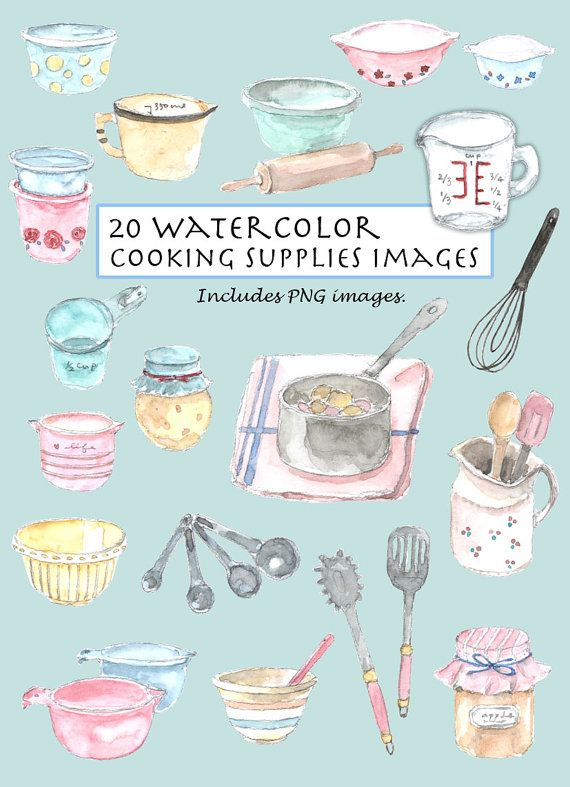 Baking clipart cooking supply On Vintage Cooking Set Pinterest