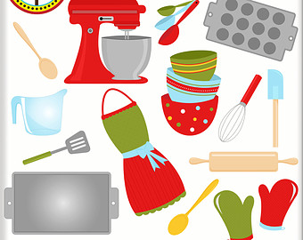 Baking clipart cooking supply Cute Christmas Clipart Clip Digital