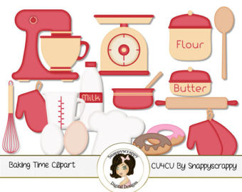 Baking clipart cooking supply Scrapbooking Red Cream Kitchen icons