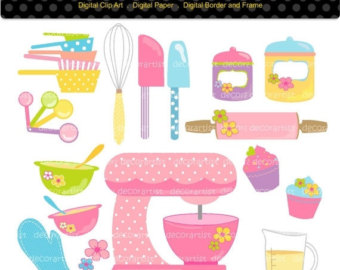 Baking clipart cooking supply _ Digital Art clipart Etsy