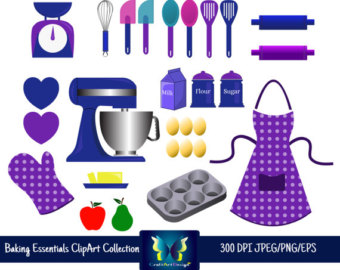 Baking clipart cooking supply Bakery essentials art clipart clipart
