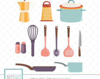 Cutlery clipart vector Digital cutlery clipart graphics and