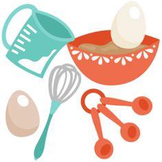 Baking clipart cute Supplies Baking Clip Food Blue