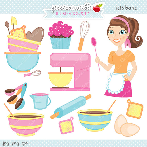 Baking clipart cute  Baking Clipart Cute