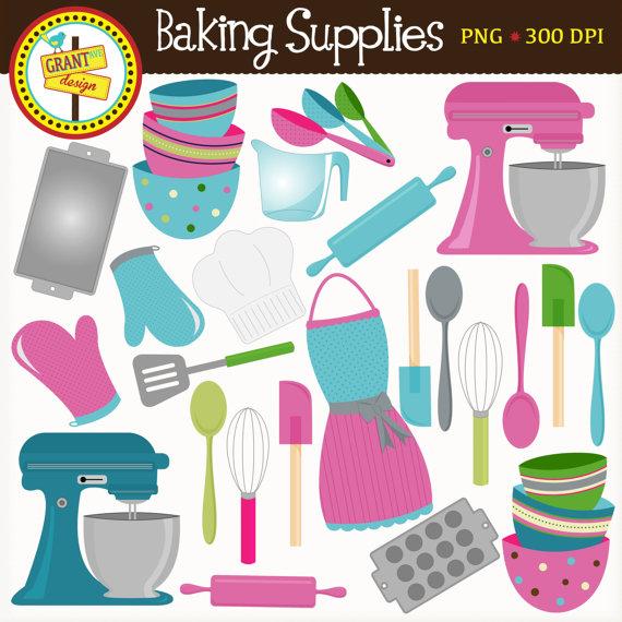 Baking clipart cute Supplies Baking Clip Baking Blue