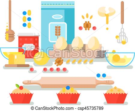 Baking clipart food prep Of Vector and food Vector