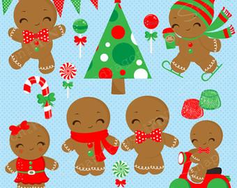 Gingerbread clipart alphabet Christmas Gingerbread Clipart Christmas Gingerbread
