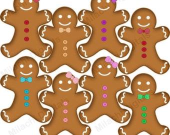 Gingerbread clipart alphabet Clipart clipart Gingerbread cookies SALE