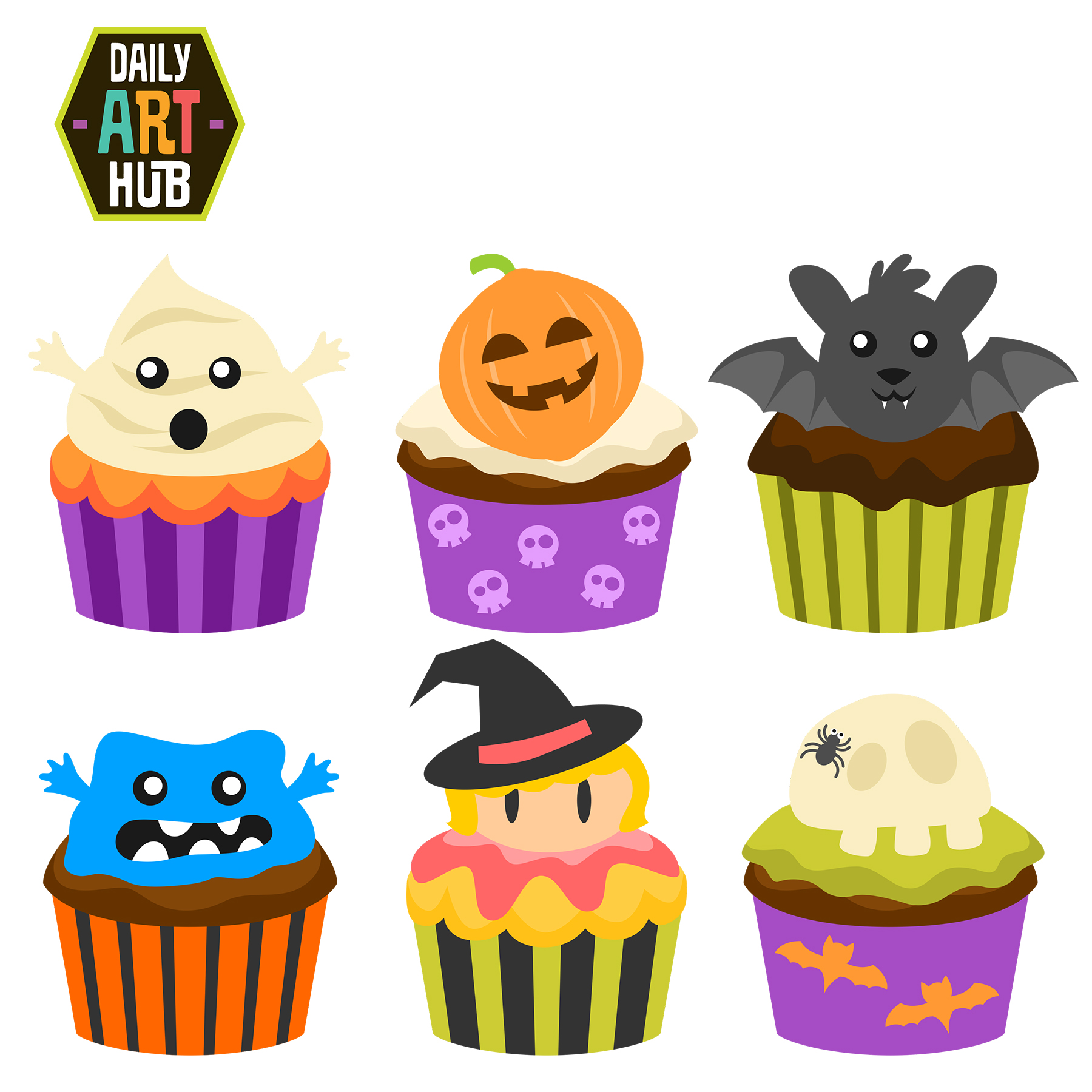 Cart clipart food shop Halloween Set Hub Daily CupCakes